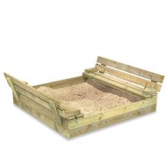 Zandbak Flip met klapdeksel 120x125 cm